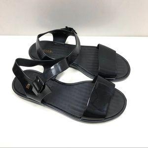 Melissa black jelly sandals 8